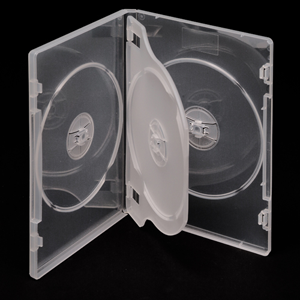 5x Triple DVD Covers (SUPER CLEAR) - Holds 3x Discs!