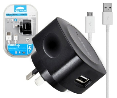 Wall Charger Charge/Micro Usb Charging Cable For Samsung Galaxy/HTC Black