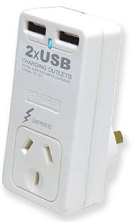 Sansai Dual USB Mains Charger 2.1 AMP